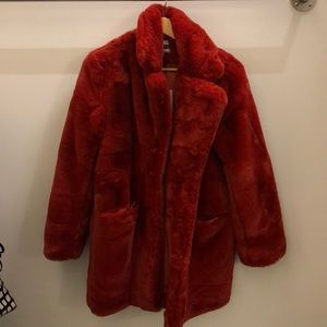 appairs Jackets & Coats - Appairs ginger Sophie faux fur coat sz s NWT 70370